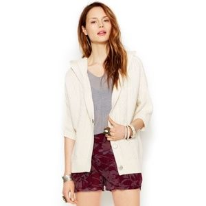 Free People Hooded Washed Out Cardi